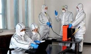 사진은 북한 평안북도와 자강도에서 신종 코로나바이러스 감염증 방역을 준비하는 모습.