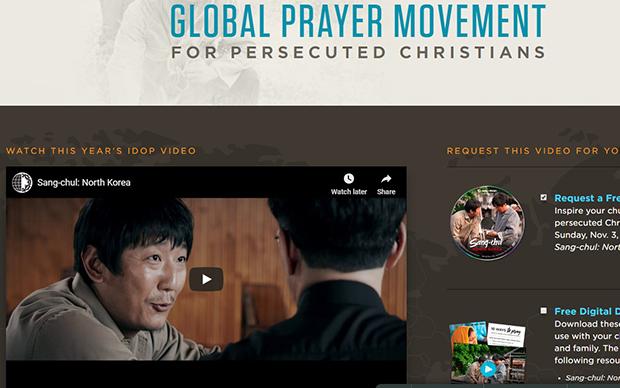 '순교자의 소리' 홈페이지에 게재된 '상철: 북한' 영화.