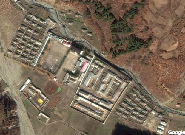 위성사진으로 본 전거리교화소의 모습.