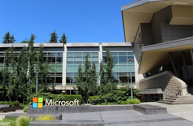 사진은 미국 워싱턴주 레드몬드시의 마이크로소프트 본사 건물.