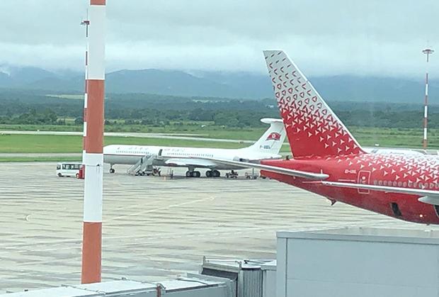 지난 8월9일 러시아 블라디보스토크 공항에서 이륙을 준비중인 북한 고려항공 여객기.