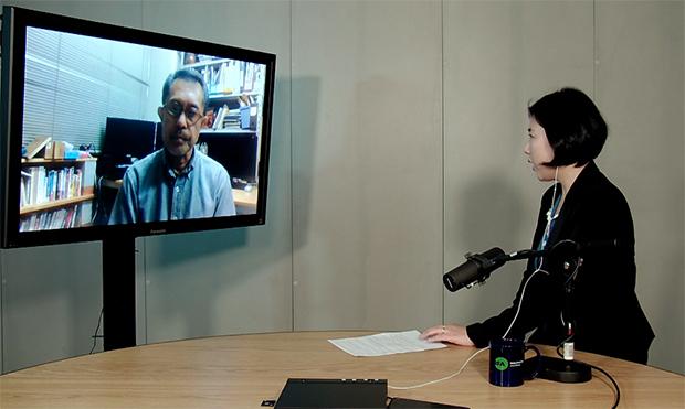 자유아시아방송(RFA)과 회견에서 '2019 북한'을 진단한 일본 '아시아프레스' 오사카사무소의 이시마루 지로 대표.
