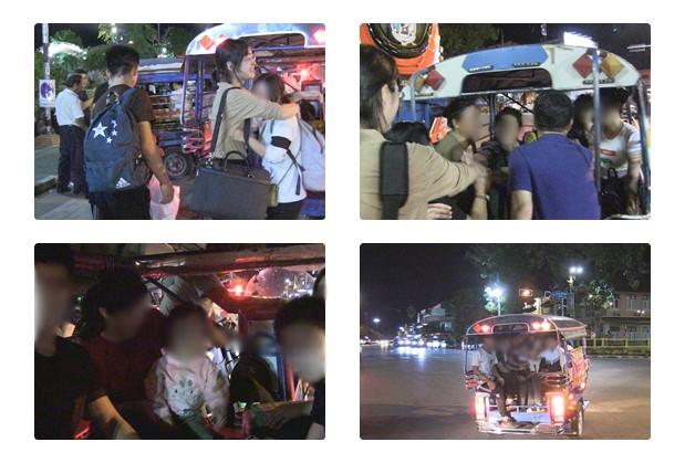 탈북자들이 경찰서로 향하기 전 나우 관계자들과 작별의 시간을 보내고 있다. 한국에서 꼭 다시 만나자는 약속도 잊지 않았다.