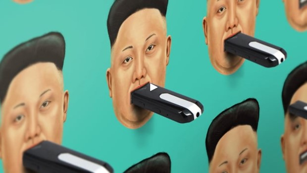 사진은 '자유를 위한 컴퓨터 휴대용 저장장치(Flash drive for Freedom)' 사업 홈페이지 캡쳐.