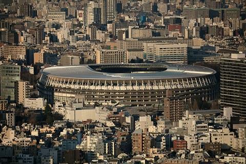 도쿄 올림픽 개폐회식이 열릴 경기장 모습.