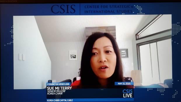 수미 테리 전략국제문제연구소 선임연구원이 21일 김정은 북한 국무위원장의 건강문제에 대해 설명하고 있다.