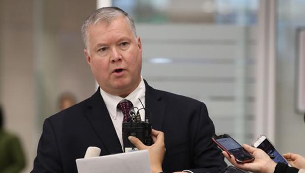 미국의 대북 실무협상을 이끄는 스티븐 비건 국무부 대북특별대표.