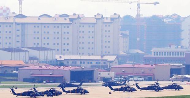 전시작전통제권(전작권) 전환에 초점이 맞춰진 하반기 한미 연합연습이 사실상 시작된 지난 5일 경기도 평택시 캠프 험프리스에 헬기들이 계류되어 있다.