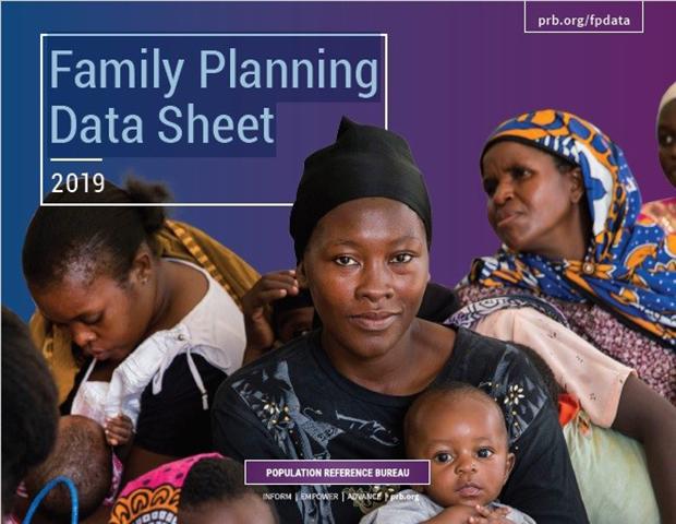 미국의 인구조회국(PRB)가 지난 3일 공개한 2019년 가족계획자료보고서.