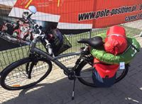 배낭여행 중 사용하고 있는 자전거. (사진제공: 박동주)