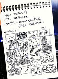 의상을 공부하는 모습. (사진제공: 문주원)