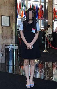 미국을 방문한 탈북민 이주영씨 (사진제공: 이주영)
