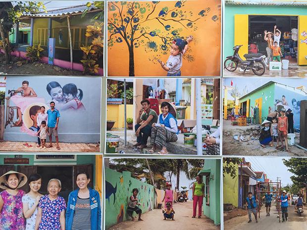 박정주씨가 촬영한 베트남 벽화마을의 모습. (사진제공: 박정주)