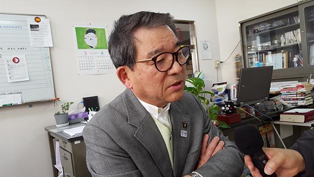 지난 3월 27일 구마모토 큐슈학원에서 만난 코테가와 이사오 씨.