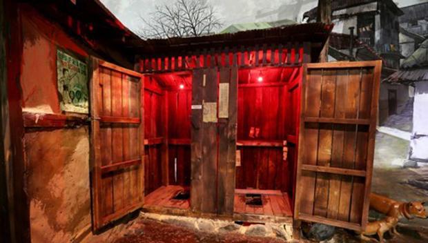 1960~70년대 푸세식 공중화장실을 재현해 놓은 인천 수도국산 달동네박물관.