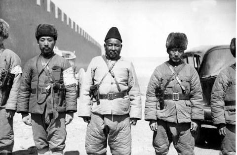 1930년대 몽골 병사들.