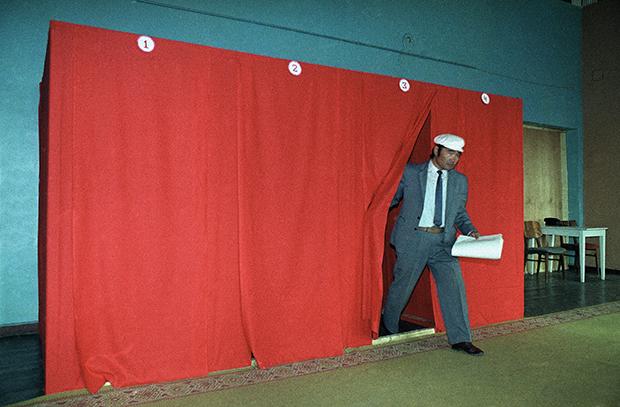 1990년 몽골의 선거 모습.