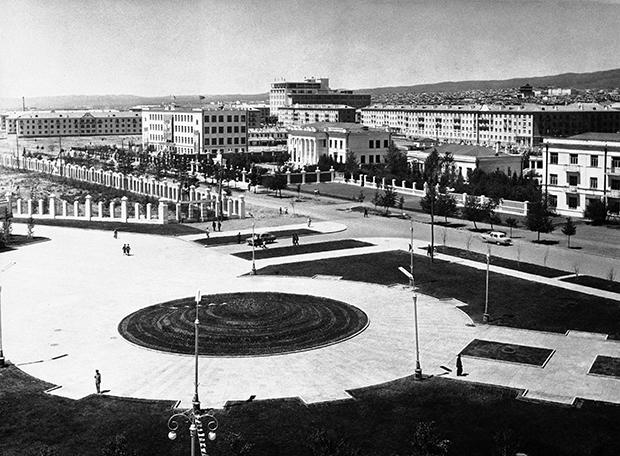 몽골 수도 울란바토르의 1961년 모습.
