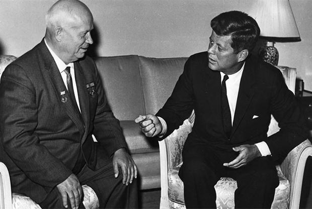1961년 흐루쇼프와 케네디.