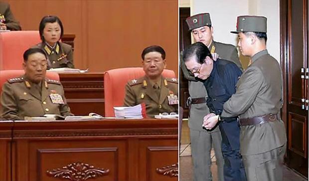 불경죄로 처형된 현영철 전 인민무력부장(왼쪽)과 김 제1위원장의 고모부 장성택.