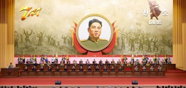 북한 조선중앙통신은 지난 26일 평양에서 4·25문화회관에서 열린 '조국해방전쟁승리(전승절) 66돌 경축 중앙보고대회'를 개최했다고 보도했다.
