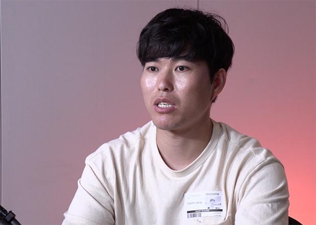 자유아시아방송을 방문한 한동대학교 학생 정철민 씨.