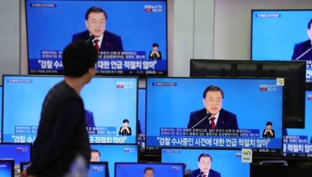 서울 용산구 전자랜드에 전시된 TV.