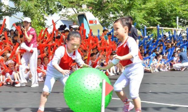 평양에서 열린 국제아동절 행사 모습.