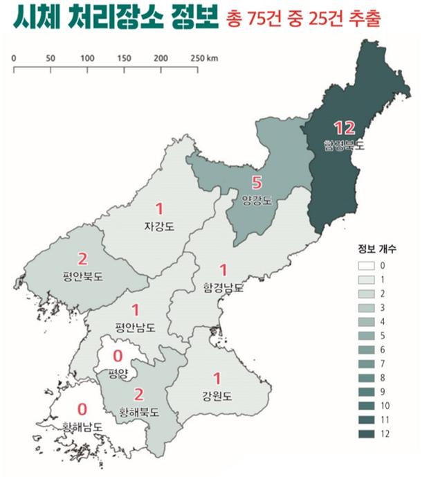 한국 내 북한인권단체인 전환기정의워킹그룹이 '살해당한 사람들을 위한 매핑-북한정권의 처형과 암매장'이라는 보고서를 지난달 10일 발표했다.